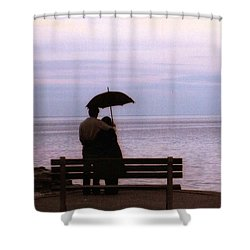 Rainy-may In Color Shower Curtain by John Scates