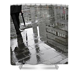 Rainy Morning In Mainz Shower Curtain by Sarah Loft