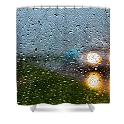 Rainy Ride Shower Curtain