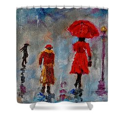 Rainy Spring Day Shower Curtain