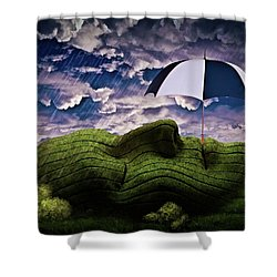 Rainy Summer Day Shower Curtain by Mihaela Pater