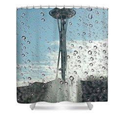 Rainy Window Needle Shower Curtain by Tim Allen