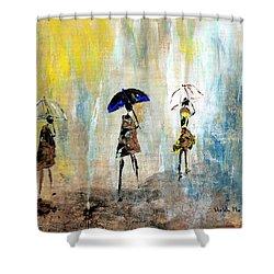 Rainydaywalk Shower Curtain