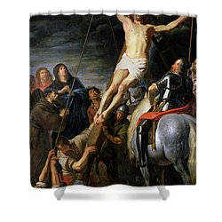 Raising The Cross Shower Curtain by Gaspar de Crayer