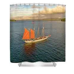 Raising The Sail Shower Curtain