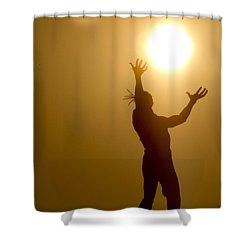 Raising The Sun Shower Curtain
