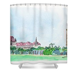 Rajabai Clock Tower And Bombay High Court Shower Curtain
