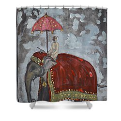 Rajasthani Elephant Shower Curtain