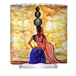 Rajasthani Lady-allure Shower Curtain