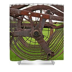 Shower Curtain featuring the photograph Rake 3118 by Guy Whiteley