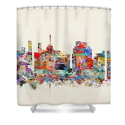 Raleigh North Carolina Shower Curtain