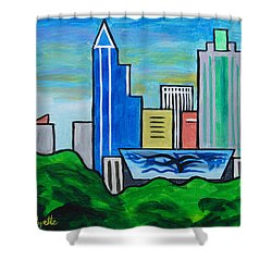 Raleigh Skyline 3 Shower Curtain