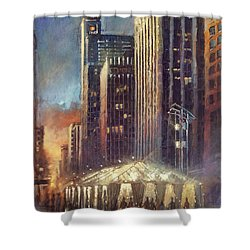 Raleigh With Symphony Tent Shower Curtain