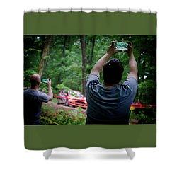 Rally Fan Capture Shower Curtain