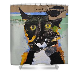 Ralph Abstracted Shower Curtain by Cliff Spohn