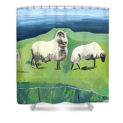 Ram On A Hill Shower Curtain