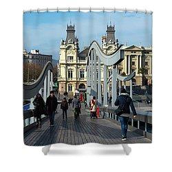 Rambla Del Mar Footbridge Shower Curtain