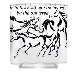 Rambunctious With Lao Tzu Quote I Shower Curtain by Bill Searle