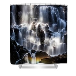 Ramona Falls With Rainbow Shower Curtain