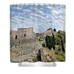 Ramparts Of Montenegro Shower Curtain