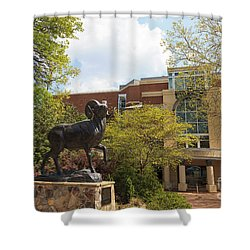 Ramses The Bighorn Ram Sculpture Shower Curtain