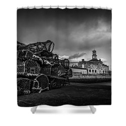 Ramsgate Lobster Pots  Shower Curtain