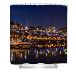 Ramsgate Marina At Night Shower Curtain