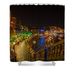 Ramsgate West Cliff Arcade Restaurants At Night  Shower Curtain
