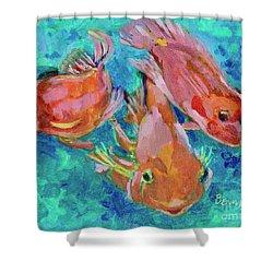 Ramshead Goldfish Shower Curtain by Jan Bennicoff