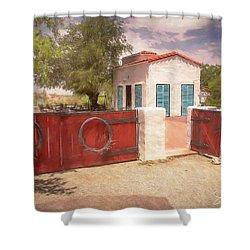 Ranch Family Homestead Shower Curtain