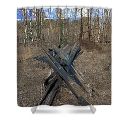 Ranch Fencing Shower Curtain