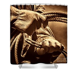 Ranch Hands Shower Curtain by American West Legend By Olivier Le Queinec