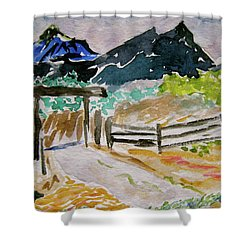 Ranch Outside Salida Shower Curtain