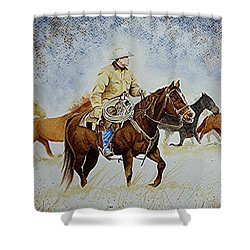 Ranch Rider Shower Curtain