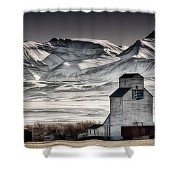 Ranchland Elevator Shower Curtain by Brad Allen Fine Art