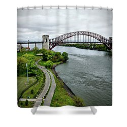 Randall's Island To Hellgate Shower Curtain
