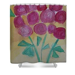 Randi's Roses Shower Curtain by Kim Nelson