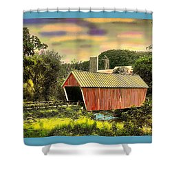 Randolf Covered Bridge Shower Curtain by John Selmer Sr