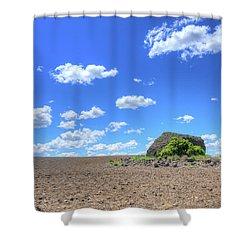 Random Rocks Shower Curtain by Spencer McDonald