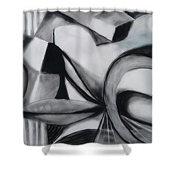 Random Shapes Shower Curtain