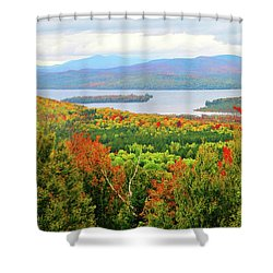 Rangeley Lake And Rangeley Plantation Shower Curtain