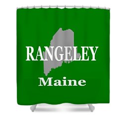 Shower Curtain featuring the photograph Rangeley Maine State City And Town Pride  by Keith Webber Jr