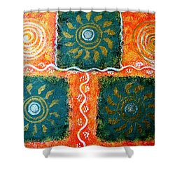 Rangoli Abstract Painting Shower Curtain
