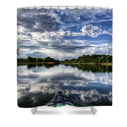 Shower Curtain featuring the photograph Rankin Bottoms Hdr by Douglas Stucky