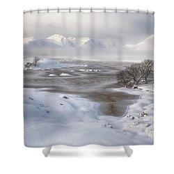 Rannoch Moor Winter Shower Curtain