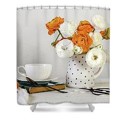 Shower Curtain featuring the photograph Ranunculus Bouquet by Kim Hojnacki