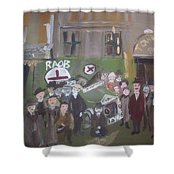 Raob Ambulance Shower Curtain by Judith Desrosiers