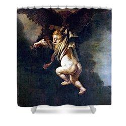 Rape Of Ganymede Shower Curtain by Granger