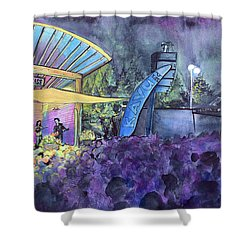 Rapid Grass Playing Clear Creek Rapidgrass Bluegrass Festival Shower Curtain