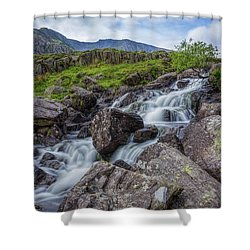 Rapids Of Snowdonia Shower Curtain by Ian Mitchell